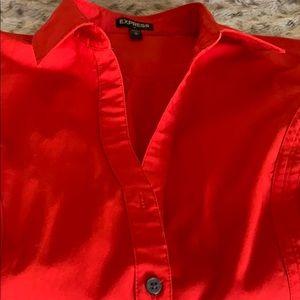 Express Red Button Down Shirt